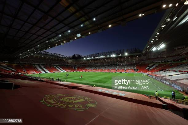 A general view of Old Trafford the home stadium of Manchester United during the Premier League match between Manchester United and Crystal Palace at...