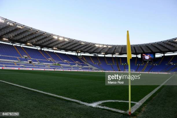 General view of Olimpic Stadium prior to the TIM Cup match between SS Lazio and AS Roma on March 1 2017 in Rome Italy