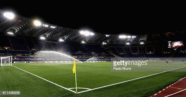A general view of Olimpico Stadium before the UEFA Europa League match between AS Roma and FC Astra Giurgiu at Olimpico Stadium on September 29 2016...