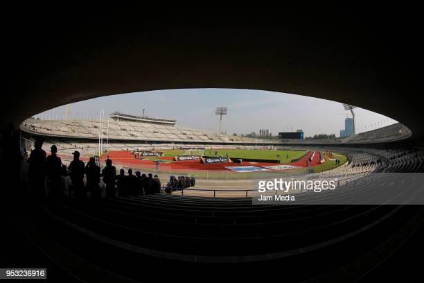 General view of Olimpico Stadium prior to the 17th round match between Pumas UNAM and Queretaro as part of the Torneo Clausura 2018 Liga MX at...
