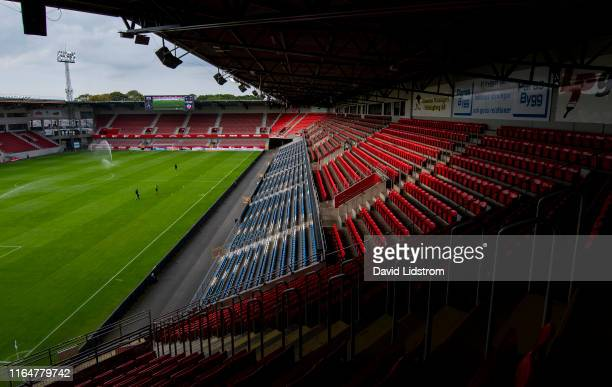 General view of Olympia ahead of the Allsvenskan match between Helsingborgs IF and Ostersunds FK at Olympia on August 30 2019 in Helsingborg Sweden