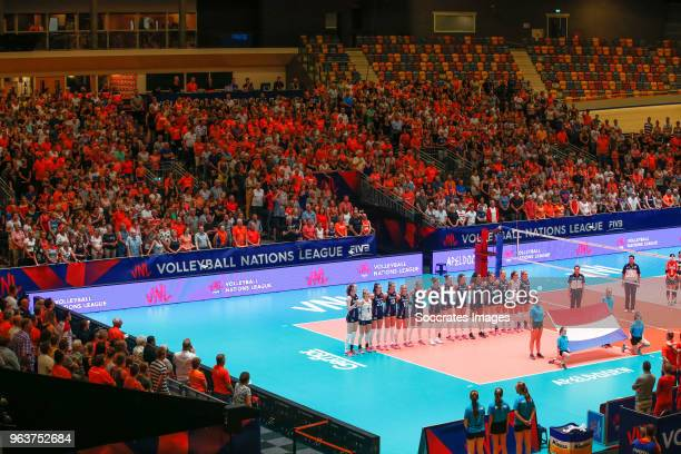 general view of Omnisport Apeldoorn during the Nations League Women match between Holland v South Korea at the Omnisport Apeldoorn on May 30 2018 in...
