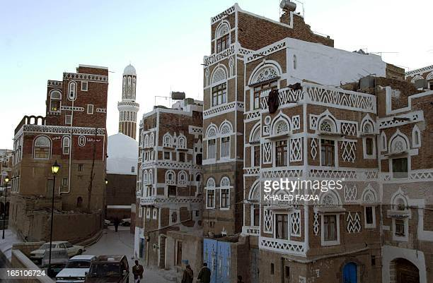 General view of one of Old Sanaa's streets taken 01 January 2004. Sanaa is the Arab cultural capital for 2004 during which a large number of cultural...