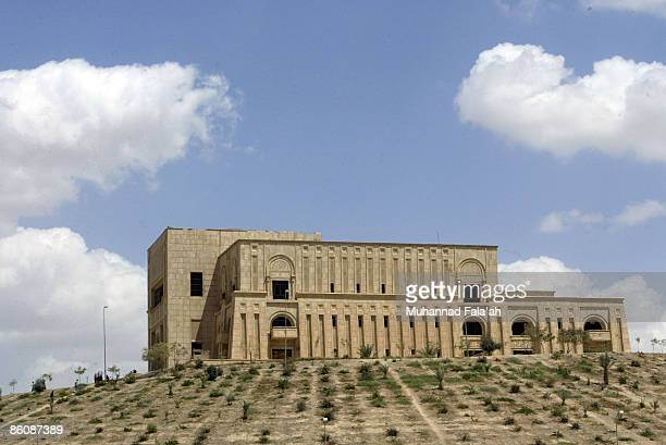 A general view of one of Saddam Hussein's former palaces on April 21 2009 in the city of Hillah in Babil province about 50 miles south of Baghdad...