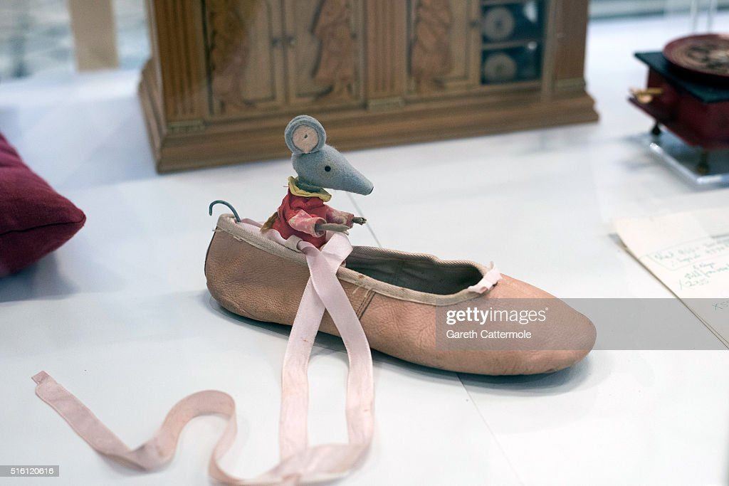 A general view of one of the original mice from Bagpuss during a photocall for the Bagpuss And The Clangers Retrospective Of Smallfilms at the V&A Museum Of Childhood on March 17, 2016 in London, England.