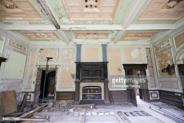 A general view of one of the rooms at the derelict Hopwood Hall which US film actor Hopwood DePree XIV hopes to restore to its former glory on...
