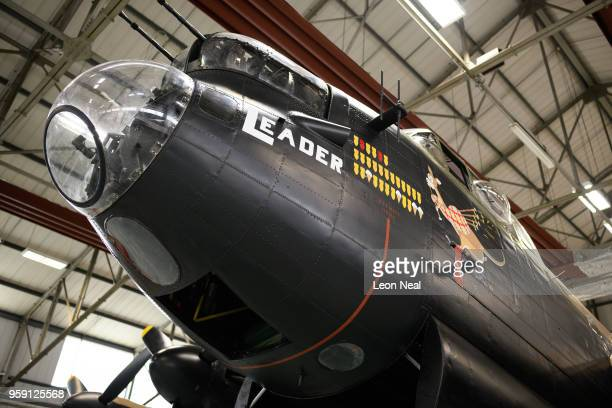 A general view of one of the two surviving airworthy Avro Lancaster bombers ahead of an event to mark the 75th anniversary of the 'Dambusters' raids...