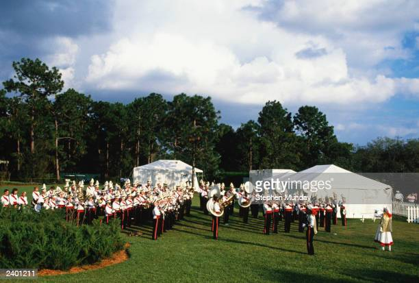 A general view of opening ceremony during the Solheim Cup in 1990 at the Lake Nona Golf Club in Florida USA
