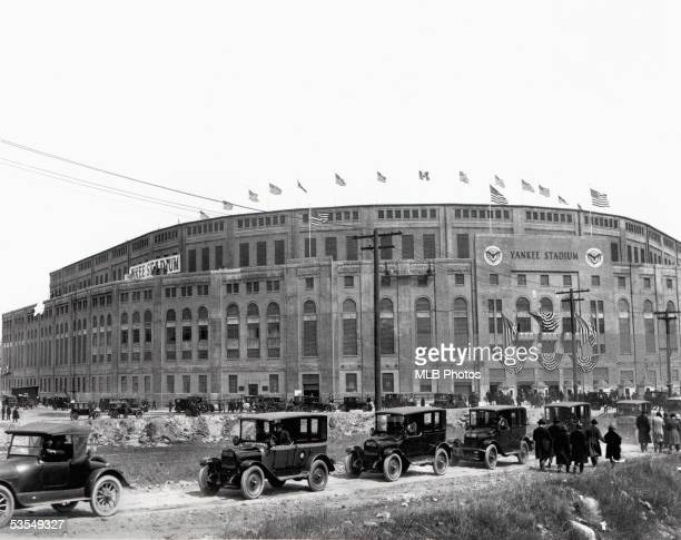 General view of Opening Day at Yankee Stadium, on April 18, 1923 in Bronx, New York
