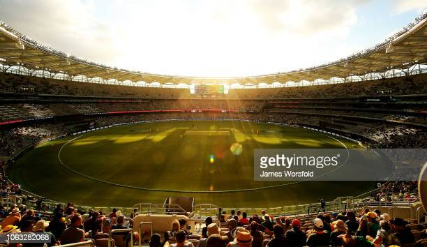 General View of Optus Stadium during game one of the One Day International series between Australia and South Africa at Perth Stadium on November 04,...