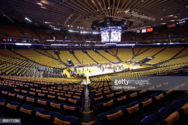 A general view of Oracle Arena before the LA Clippers game against the Golden State Warriors on January 28 2017 in Oakland California NOTE TO USER...