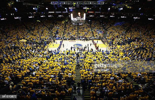 A general view of ORACLE Arena prior to Game 7 of the 2016 NBA Finals between the Cleveland Cavaliers and the Golden State Warriors on June 19 2016...