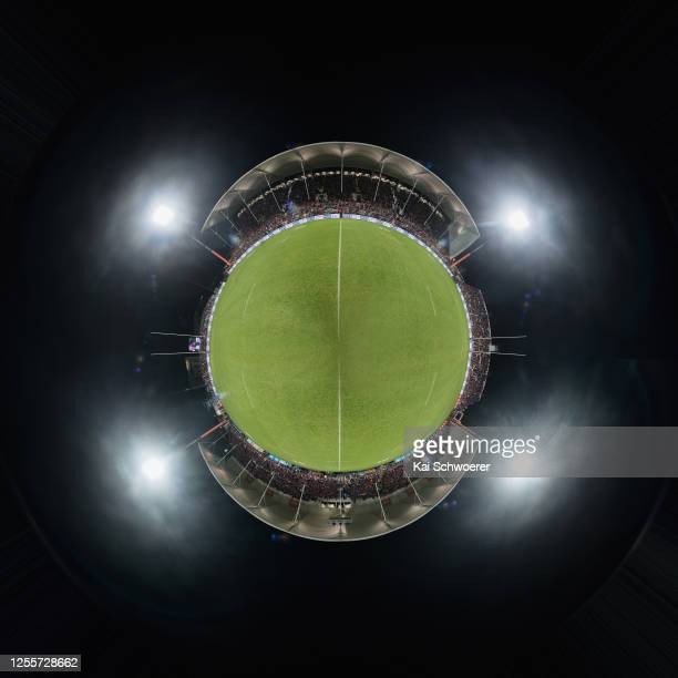 General view of Orangetheory Stadium prior to the round 5 Super Rugby Aotearoa match between the Crusaders and the Blues at Orangetheory Stadium on...