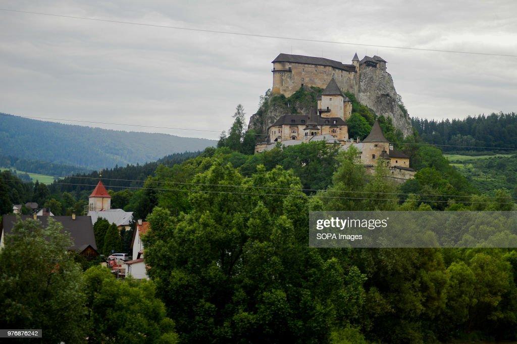 A general view of Orava Castle in Oravsky Podzamok, Slovakia... : News Photo