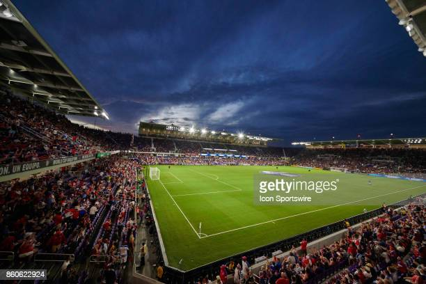 A general view of Orlando City Stadium during the World Cup Qualifying match between the the United States and Panama on October 6 2017 at Orlando...