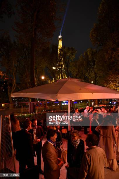 General view of OSNI 1 Opening Cocktail Hosted By Cartier at Palais De Tokyo on October 19 2017 in Paris France