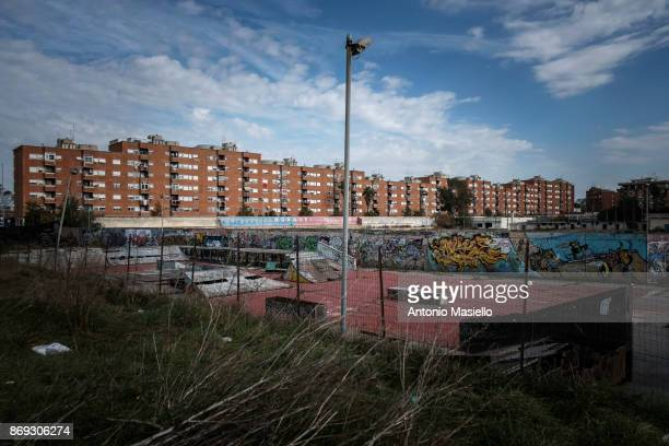 General view of Ostia's city hall suburb of Rome on October 31 2017 in Rome Italy Ostia's city hall was dissolved for mafia infiltration in 2015 and...