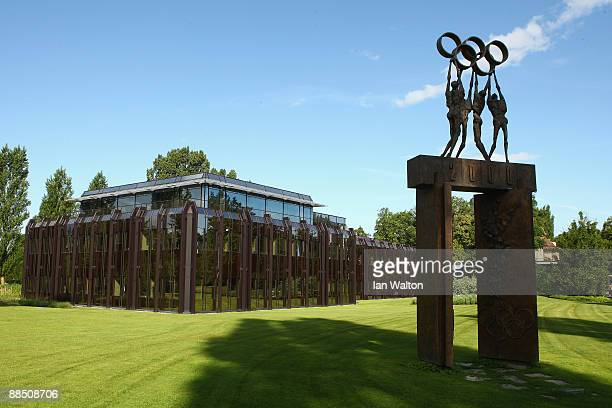 General view of out side the International Olympic Committee headquarters during the IOC Executive Board meeting on June 16 2009 in Lausanne...