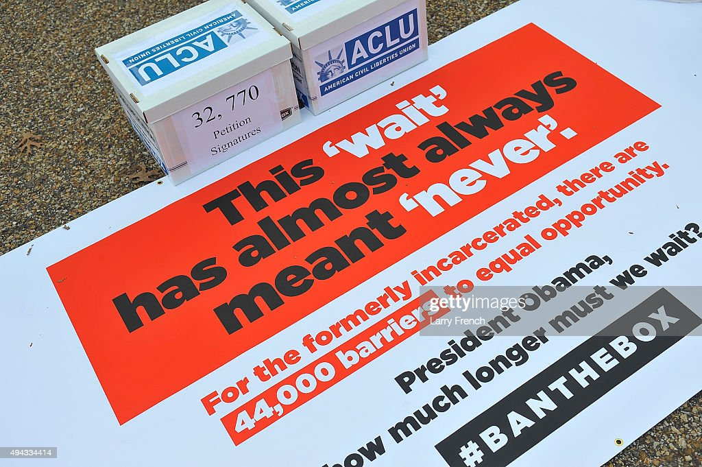Coalition Delivered Over 130,000 Signatures to White House to Ban the Box : News Photo
