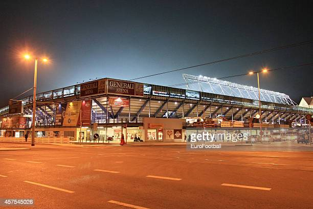 A general view of outside the Stadion Letna before the UEFA Europa League Group I match between AC Sparta Praha and BSC Young Boys at the Stadion...