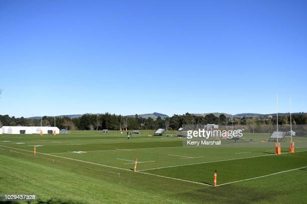 General view of Owen Delany Park before the Jock Hobbs Memorial National U19 Tournament on September 9 2018 in Taupo New Zealand