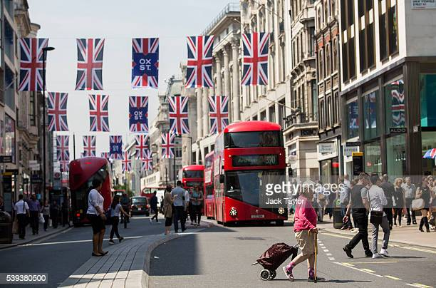 A general view of Oxford Street on June 9 2016 in London England Conditions are tough for the High Street as retailers recorded a 19% drop in May The...