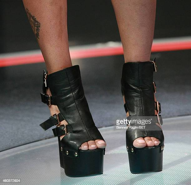 A general view of Paigion shoes during 106 Park at BET studio on December 15 2014 in New York City