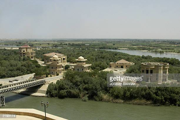 A general view of palaces belonging to toppled leader Saddam Hussein built on a small island on the Tigris river in Saddam's hometown of Tikrit 175...