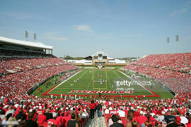 General view of Papa John's Stadium during the game between the University of Louisville Cardinals and the Florida Atlantic University Owls on...
