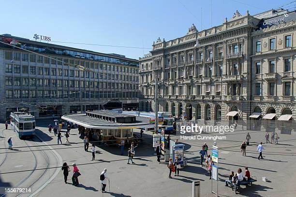 A general view of Paradeplatz on September 21 2012 in Zurich Switzerland