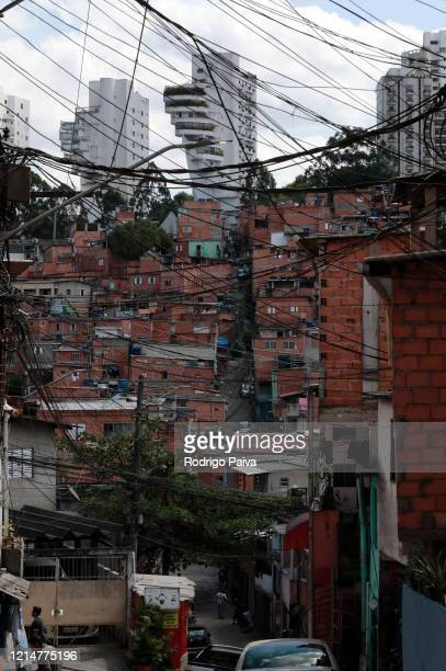 A general view of Paraisopolis favela on March 24 2020 in Sao Paulo Brazil Paraisopolis is the second largest favela in the city of Sao Paulo housing...