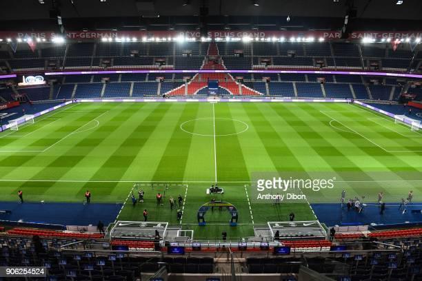 General view of parc des princes during the Ligue 1 match between Paris Saint Germain and Dijon FCO at Parc des Princes on January 17 2018 in Paris