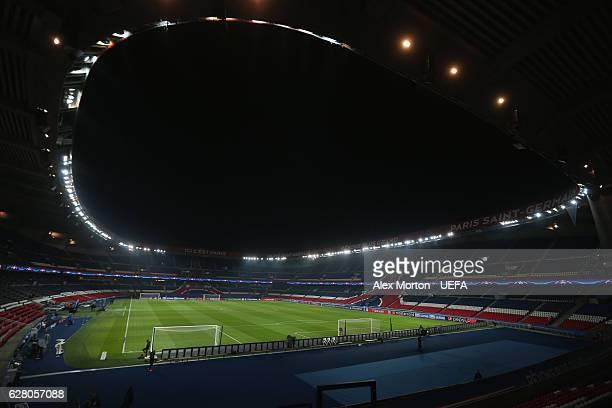 General view of Parc Des Princes during the UEFA Champions League match between Paris Saint Germain and Ludogorets Razgrad at Parc des Princes on...