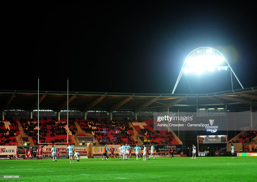 A general view of Parc Y Scarlets, home of Scarlets during