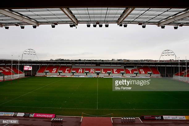 General view of Parc Y Scarlets, the new stadium of the Llanelli Scarlets Rugby Union side on January 14, 2009 in Llanelli, Wales.