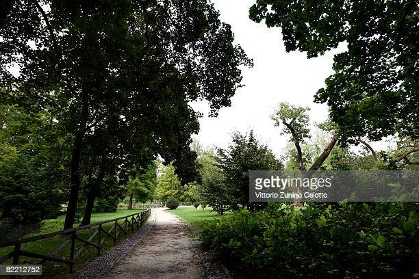 A general view of Parco Sempione on August 07 2008 in Milan Italy