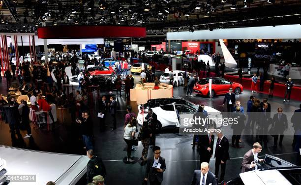 General view of Paris Motor Show 'Mondial de l'Automobile' at the Porte de Versailes in Paris France on October 02 2018 The Paris Motor Show runs...