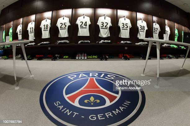 General view of Paris Saint Germain dressing room ahead of the the International Champions Cup 2018 match between Atletico Madrid and Paris Saint...