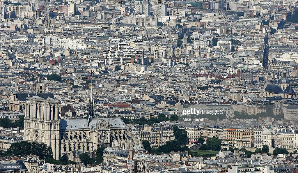 General view of Paris with the Notre Dame prominent in the foreground on June 10, 2008 in Paris, France.