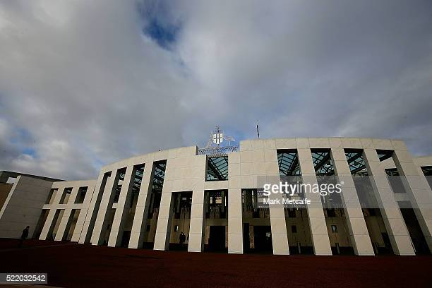 General view of Parliament House on April 18, 2016 in Canberra, Australia. Parliament has resumed early to debate the Government's Australian...