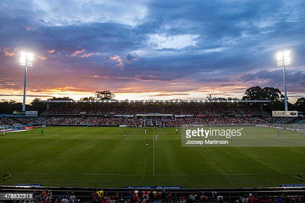 A general view of Parramatta stadium during the round 23 ALeague match between the Western Sydney Wanderers and Adelaide United at Parramatta Stadium...