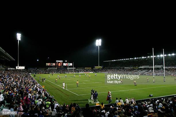 General view of Parramatta Stadium during the round 23 NRL match between the Parramatta Eels and the Bulldogs at Parramatta Stadium August 12 2005 in...