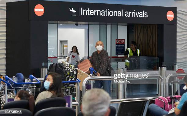General view of passengers arriving at Auckland International Airport on February 5, 2020 in Auckland, New Zealand. Flight NZ1942 departed Wuhan on...
