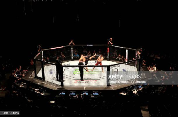 A general view of Paul Craig in action against Magomed Ankalaev at The O2 Arena London