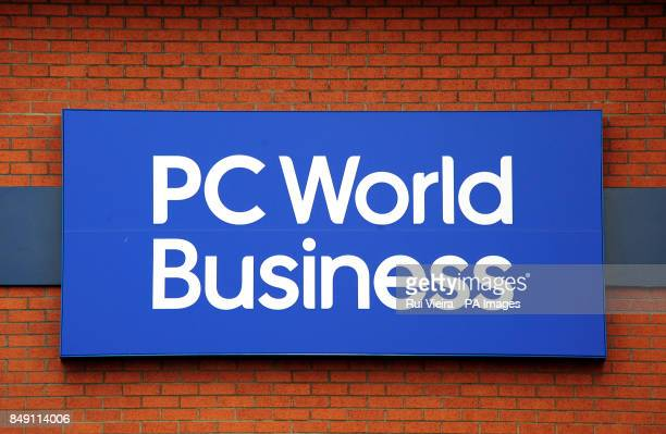 General view of PC World Buiness logo Burton On Trent Staffordshire