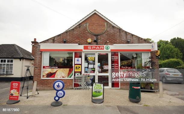 A general view of Peach's Stores in Bucklebury the family home of the Middletons which has been celebrating the birth of the Duke and Duchess of...