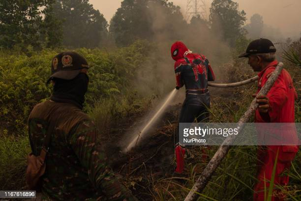General view of Pekanbaru City shrouded in haze from forest fire in Riau Province Indonesia on September 12 2019 he number of blazes in Indonesia's...