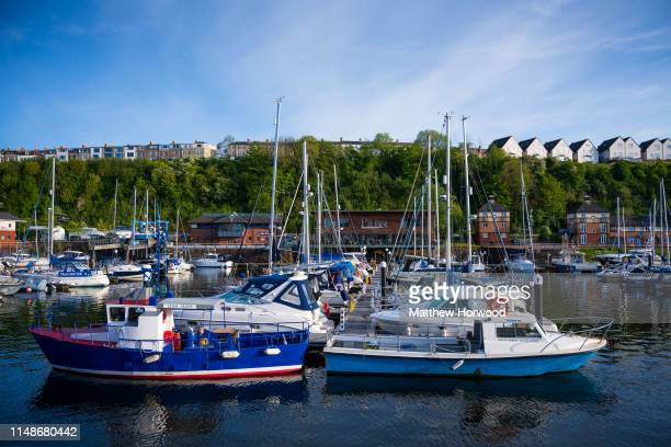 A general view of Penarth Marina on a warm sunny day on May 12 2019 in Penarth United Kingdom