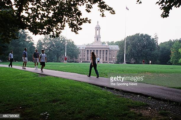 A general view of Penn State tailgaters and Penn State University campus in State College Pennsylvania on August 28 1999