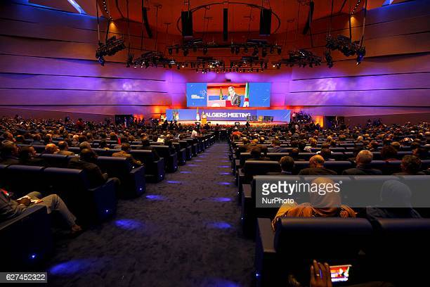 A general view of people attending the opening ceremony of the the African Investment and Business Forum in Algiers Algeria on 3 December 2016 More...